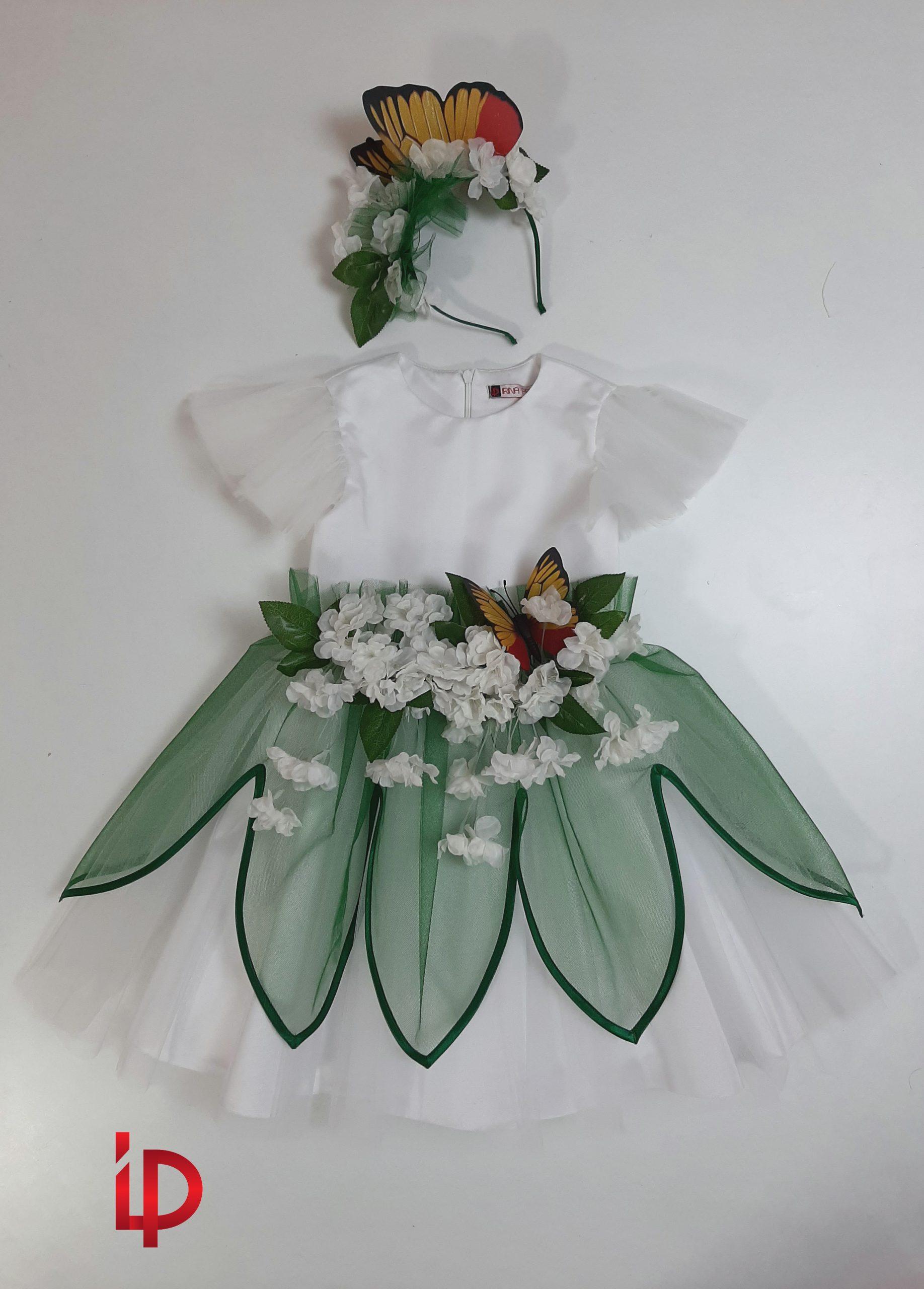 Rochie Flori de Cires 5-6 ani - irinapadure.com