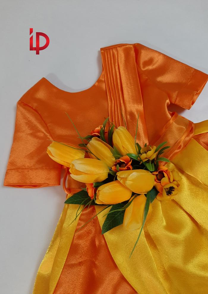 rochie lalea galbena 5-7 ani