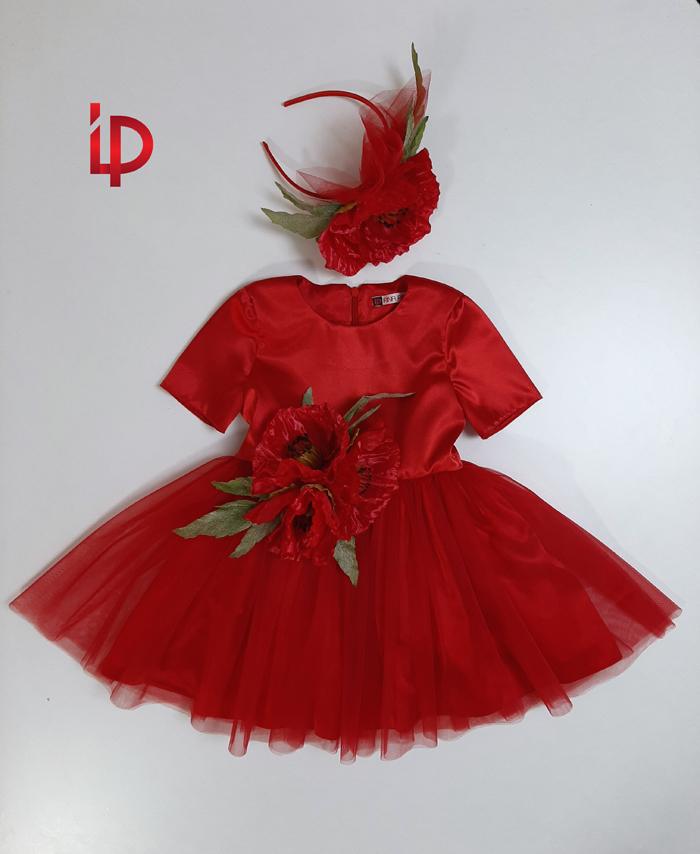rochie rosie 2-4 ani