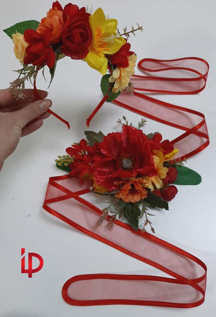 rochie rosie asimetrica 5-7 ani